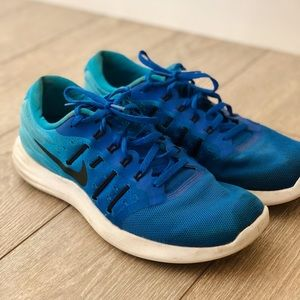 Nike Mens Blue Lunarstelos Running Shoes